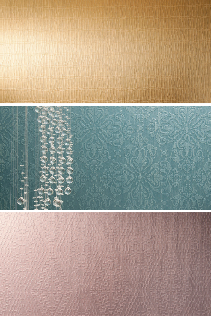 Memento Collection by ARTE Wallpaper. #Patterns: Hypnotic (top), Ornamento (middle), Kaleido (bottom). #SatarianoHome #Wallpaper