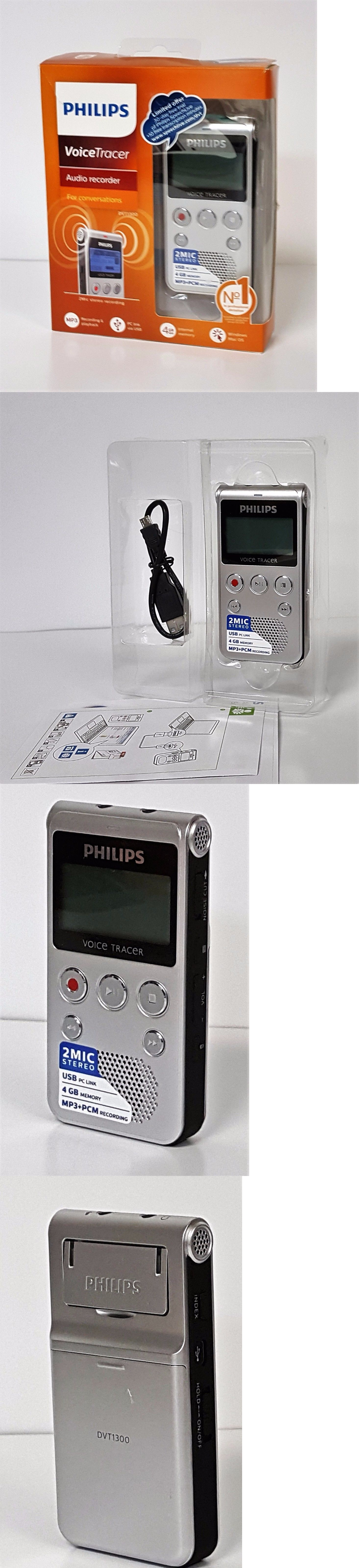 Voice Recorders Dictaphones Philips Tracer Audio Recorder Speech Warm Silver And Black Buy