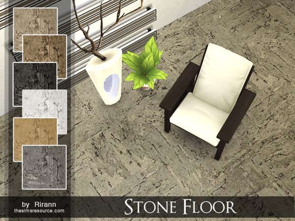 The Sims Resource Stone Floor by Rirann  Sims 4 Downloads  sims 4 cc  Flooring Patio