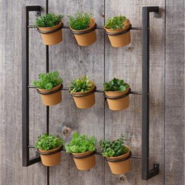 wall mounted herb planter vertical garden diy herb on indoor herb garden diy wall kitchens id=24577