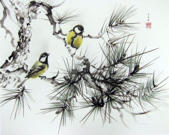articles similaires l 39 art asiatique art japonais encre. Black Bedroom Furniture Sets. Home Design Ideas