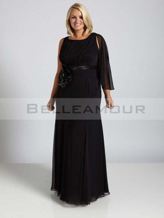 Robe de soiree noire longue grande taille
