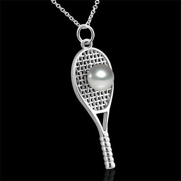 248ct diamond tennis racket pendant and 18k white gold sport 248ct diamond tennis racket pendant and 18k white gold sport designer necklace starsbybaz pendant handmade jewelry pinterest aloadofball Images
