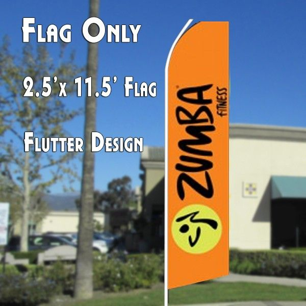 Zumba Fitness Feather Banner Swooper Flags From Overnight Grafix Nutrition Store Energy Diet Zumba Workout