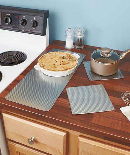 3 Pc Countertop Protector Sets Dish Drying Mat Countertops Kitchen Tools Organization