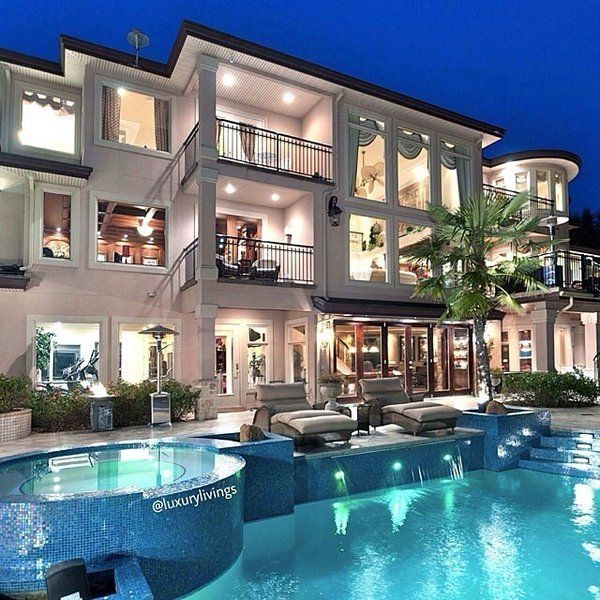 We Love The Style Of This 3 Story Mansion With Outside Pool To Take A Dip In Luxurylivingx