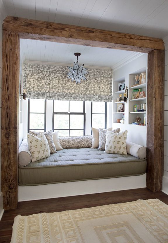 Reading Nook By The Window Cozy Home Library Country Chic Decor Interior Design