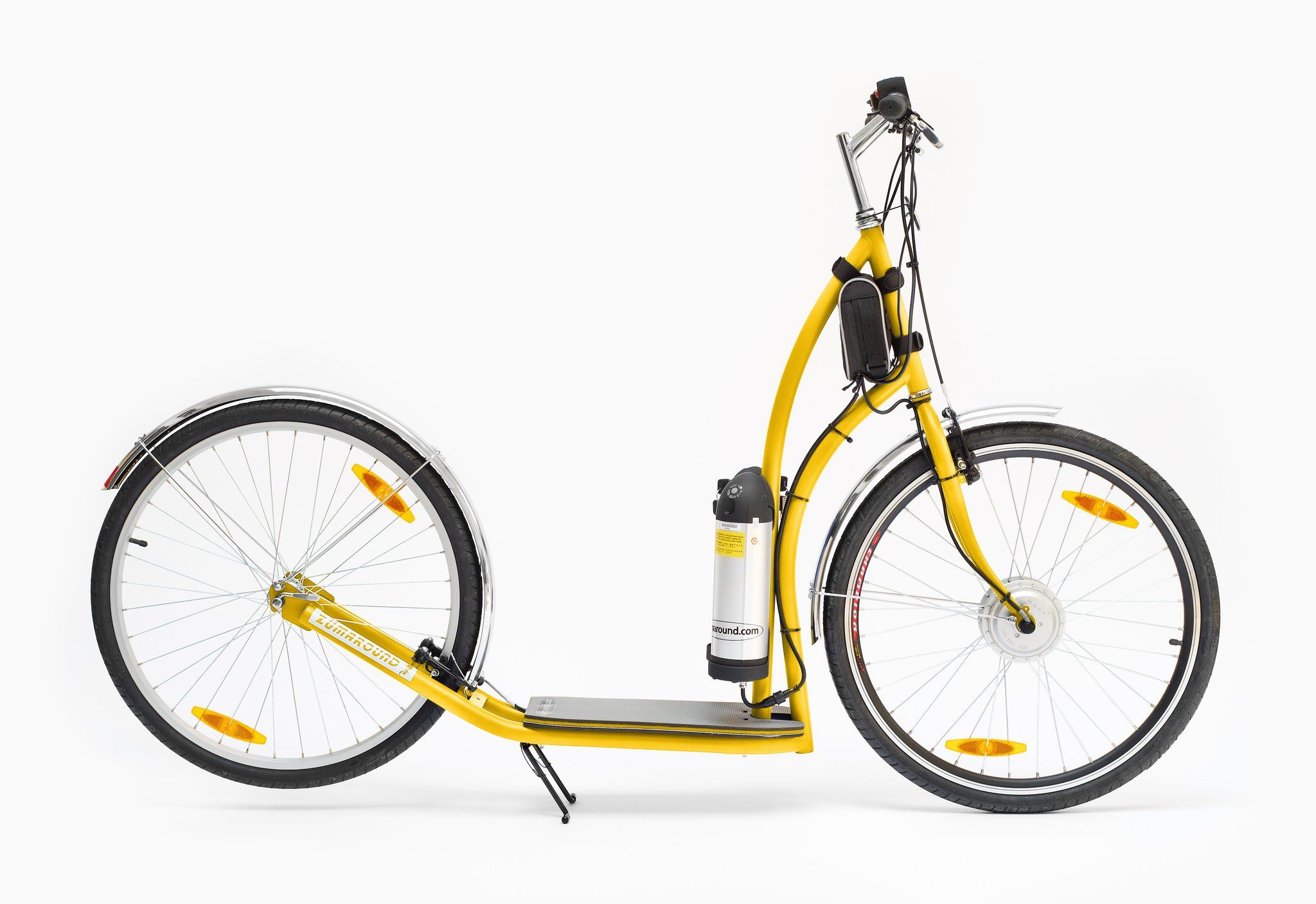MAXIZÜM YELLOW ELECTRIC SCOOTER Electric push bike, Push