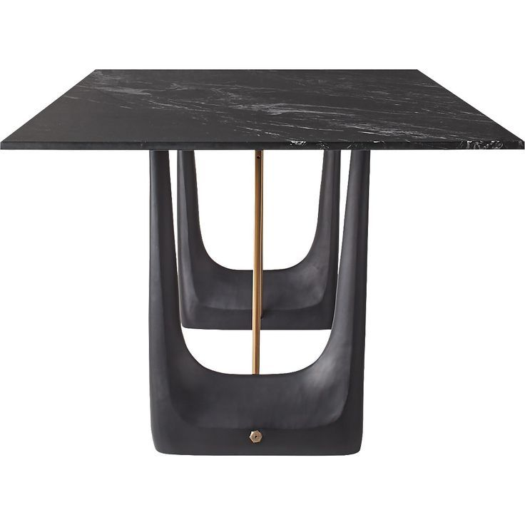 Rocco Rectangular Marble Dining Table By Caleb Zipperer Dining Table Marble Marble Dining Dining Table Black