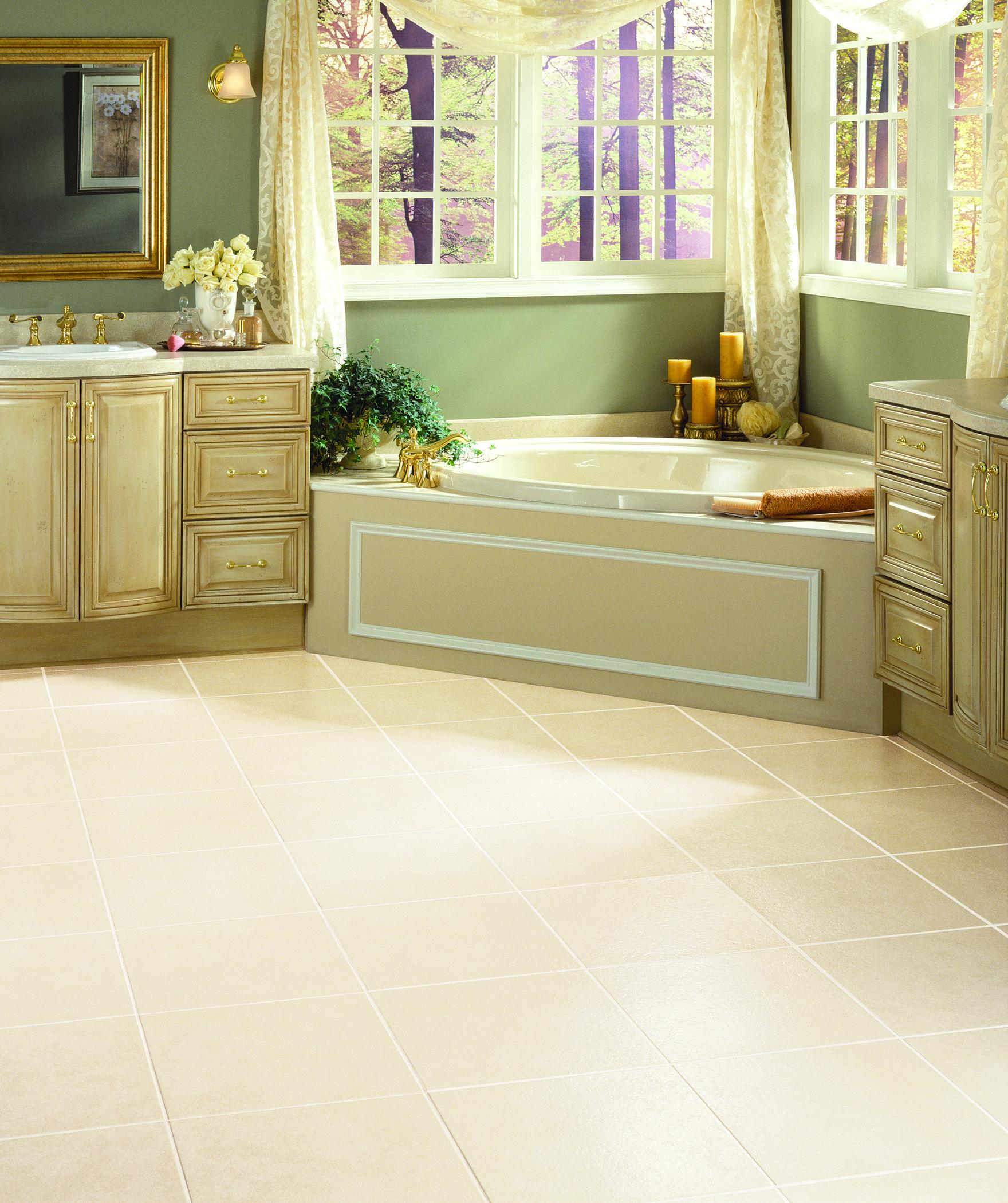 Heirloom in Bisque Bathroom flooring, Bathroom flooring