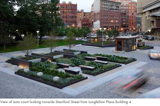 Apartment Building Landscaping Ideas view of auto court looking towards staniford street from