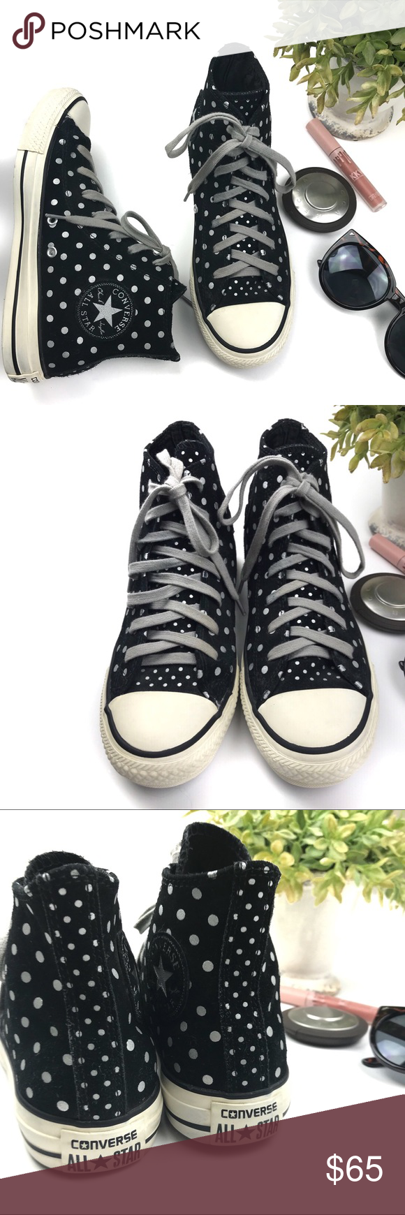 1bc5d422bae1 ✨HP✨Converse Chuck Taylor All Star Foil Polka Dots Converse Chuck Taylor  All Star Foil Polka Dots Hi Tops. Suede uppers with foil all-over foil ...