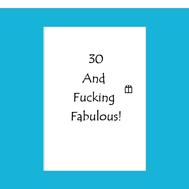 30th Birthday Card30th Card Him30th Party Card30 And Fucking Fabulous Best Friend Birthday30th Ideas30th Her