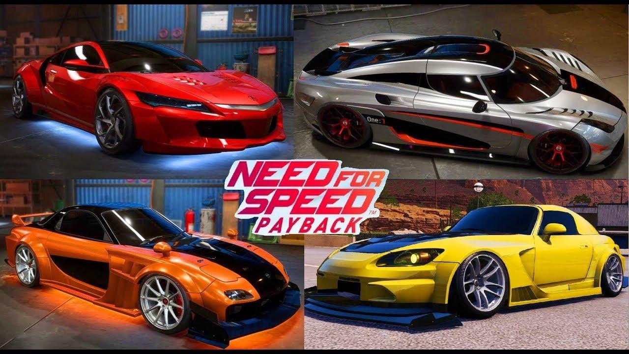 Need For Speed Payback Tuning Car Games Koenigsegg Acura Mazda