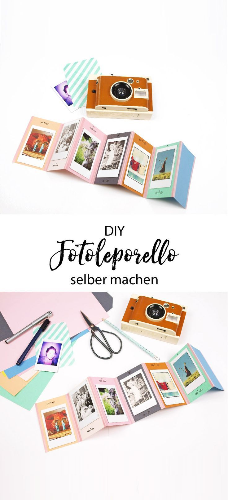 geschenkidee diy foto leporello und lomo instant kamera. Black Bedroom Furniture Sets. Home Design Ideas
