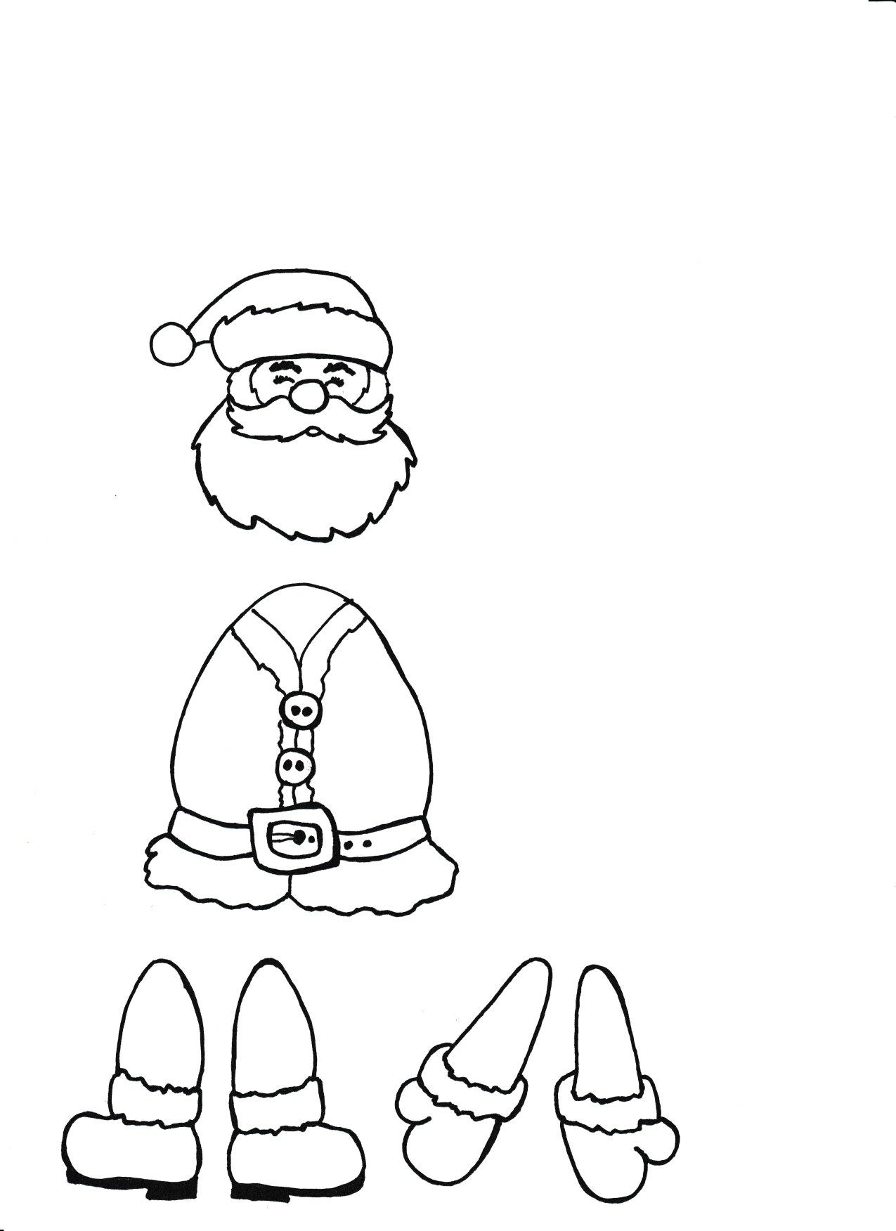Szablon Mikolaja Do Wycinania Wyklejania I Malowania Moje Dzieci Kreatywnie Kids Writing Funky Fingers Crafts For Kids