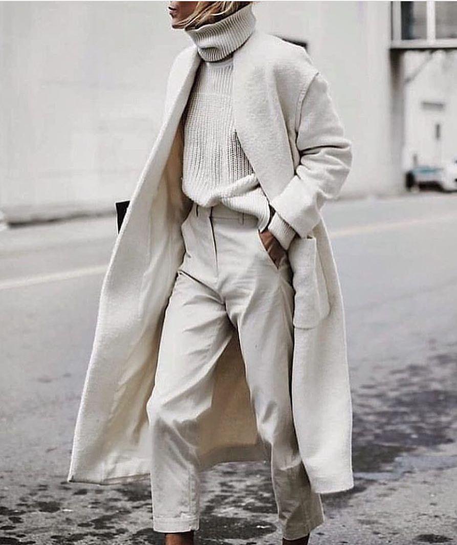 effortless in winter white