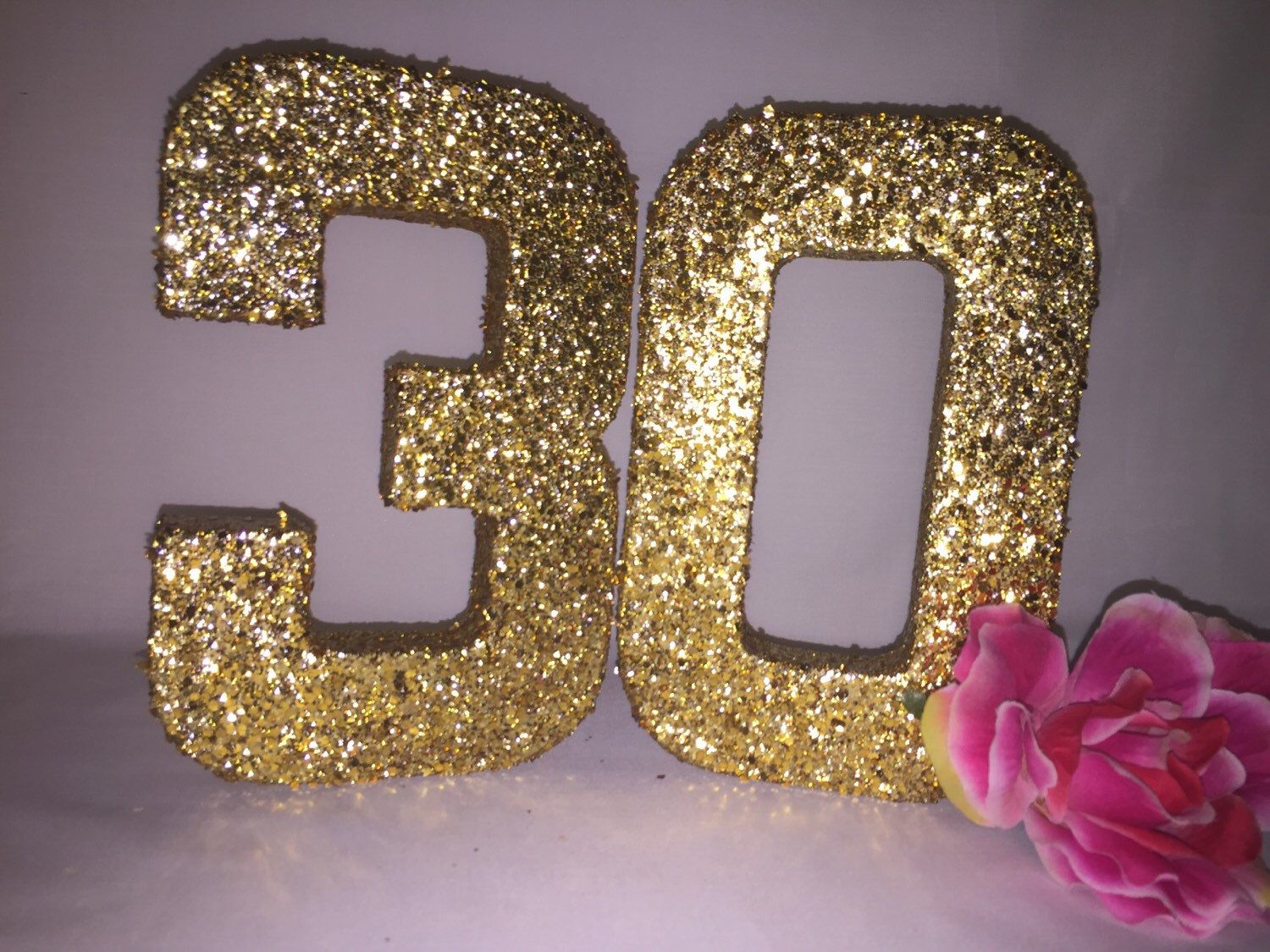 Glitter Numbers-Glitter Number 3-Glitter Number 0-Birthday Party ...