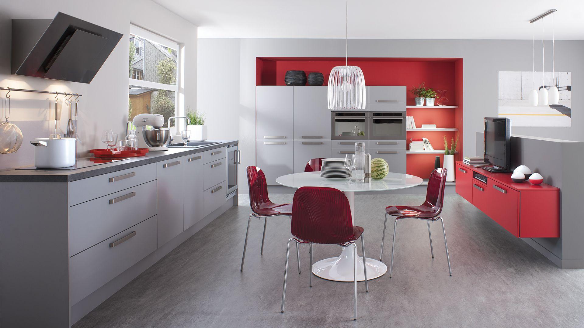 Dressing Laque Rouge Piment Cuisinella Kitchen Pinterest