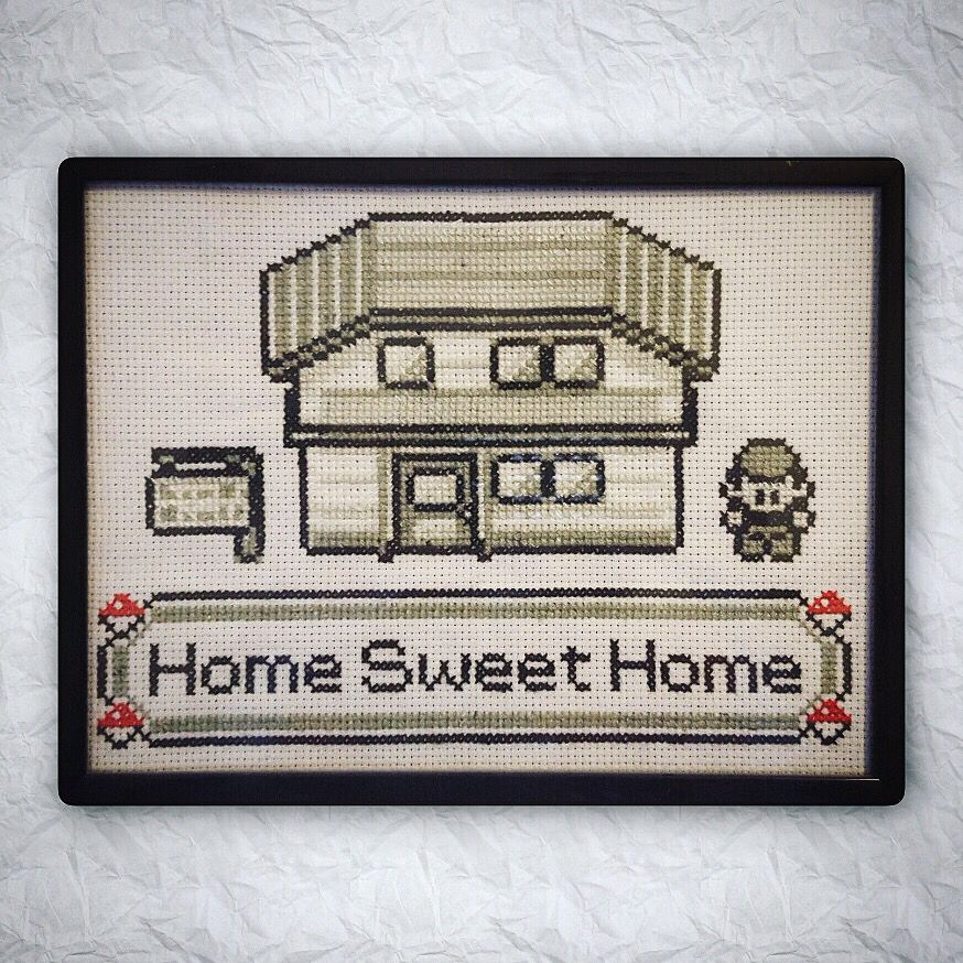 pokemon home sweet home cross stitch