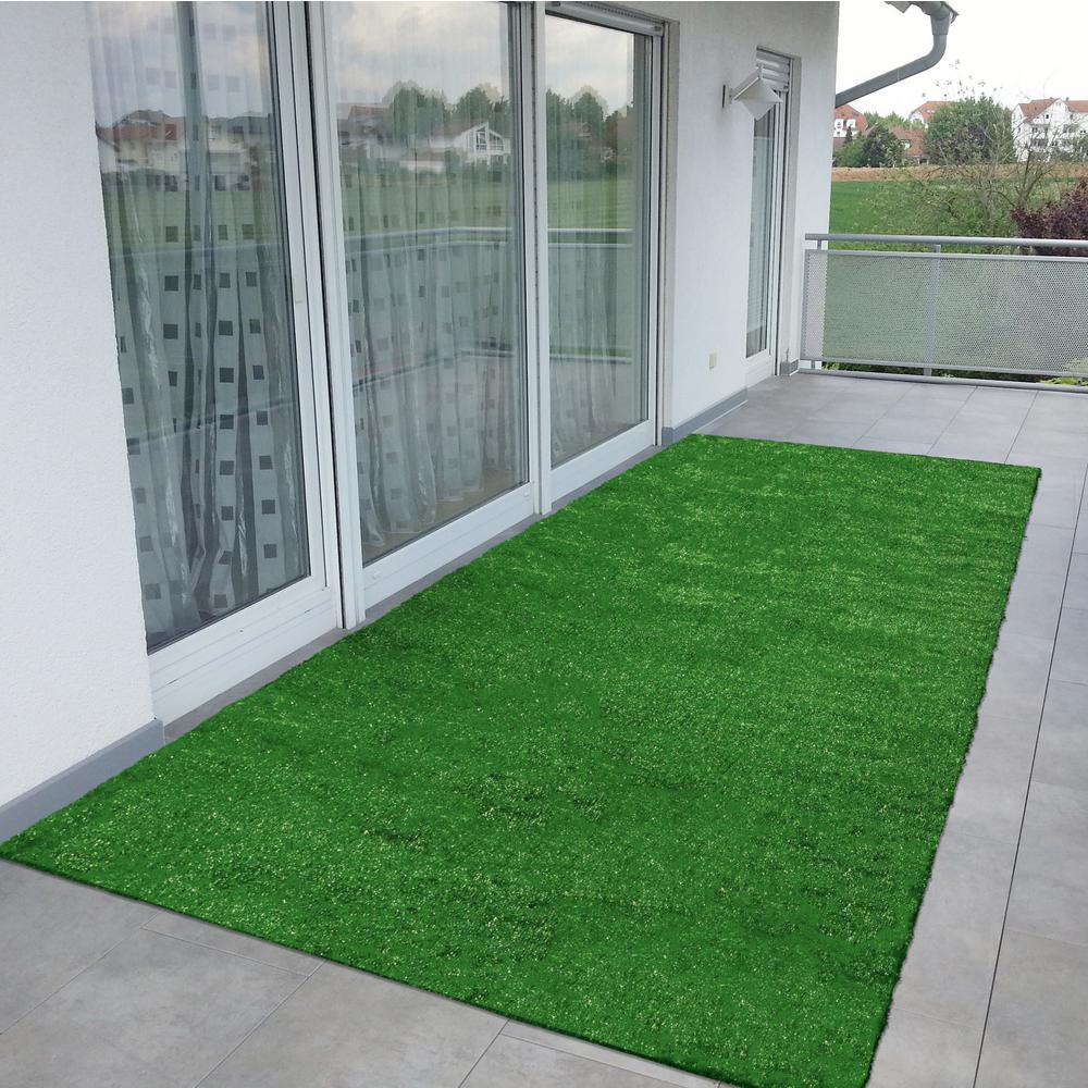 Ottomanson Evergreen Collection 2 Ft 7 In X 8 Ft Artificial Grass Synthetic Lawn Turf Indoor Outdoor Carpet R350 2x8 Matto Verhot