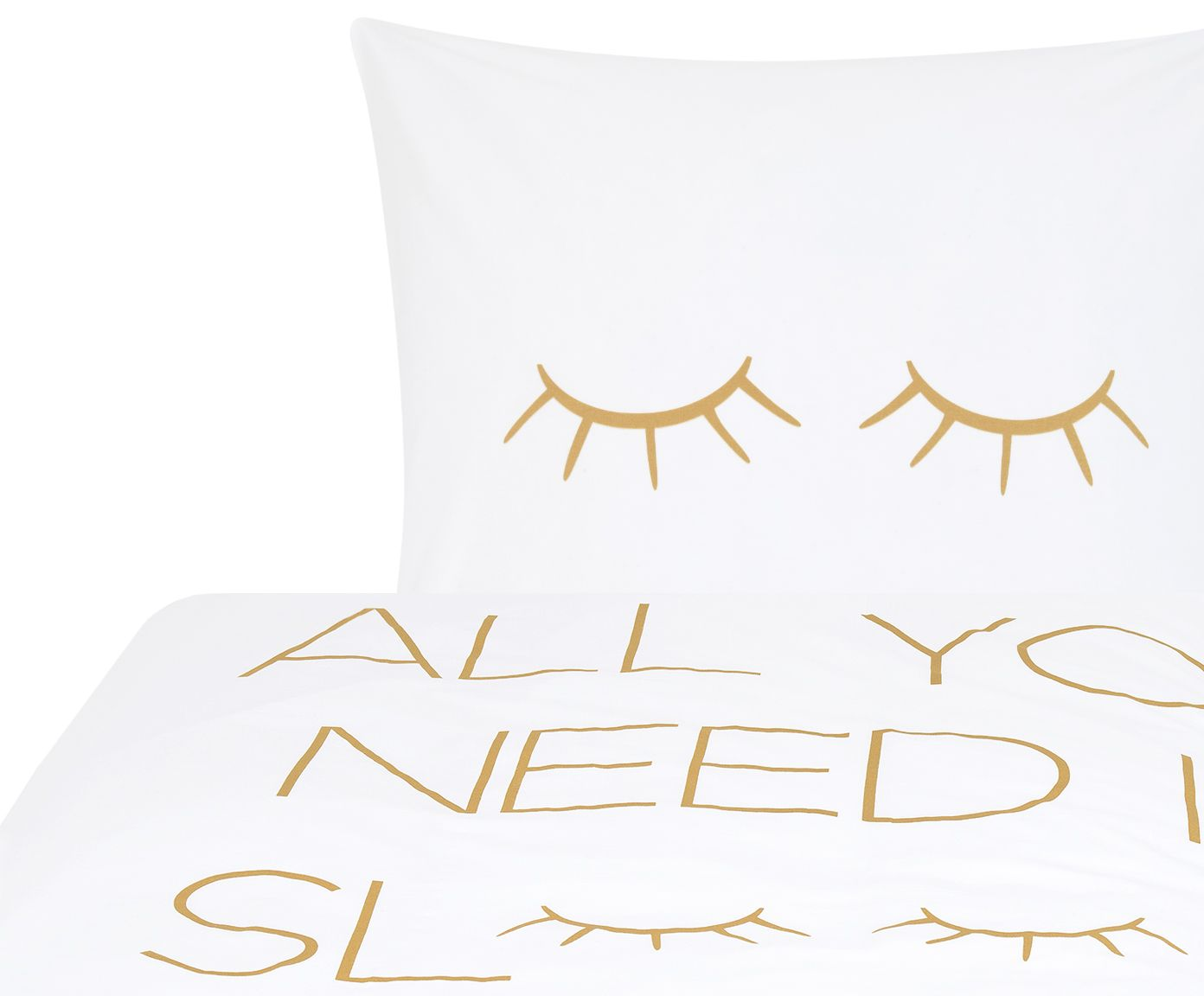 Perkal Bettwasche Sleepy Eyes Gold Living Perkal Bettwasche