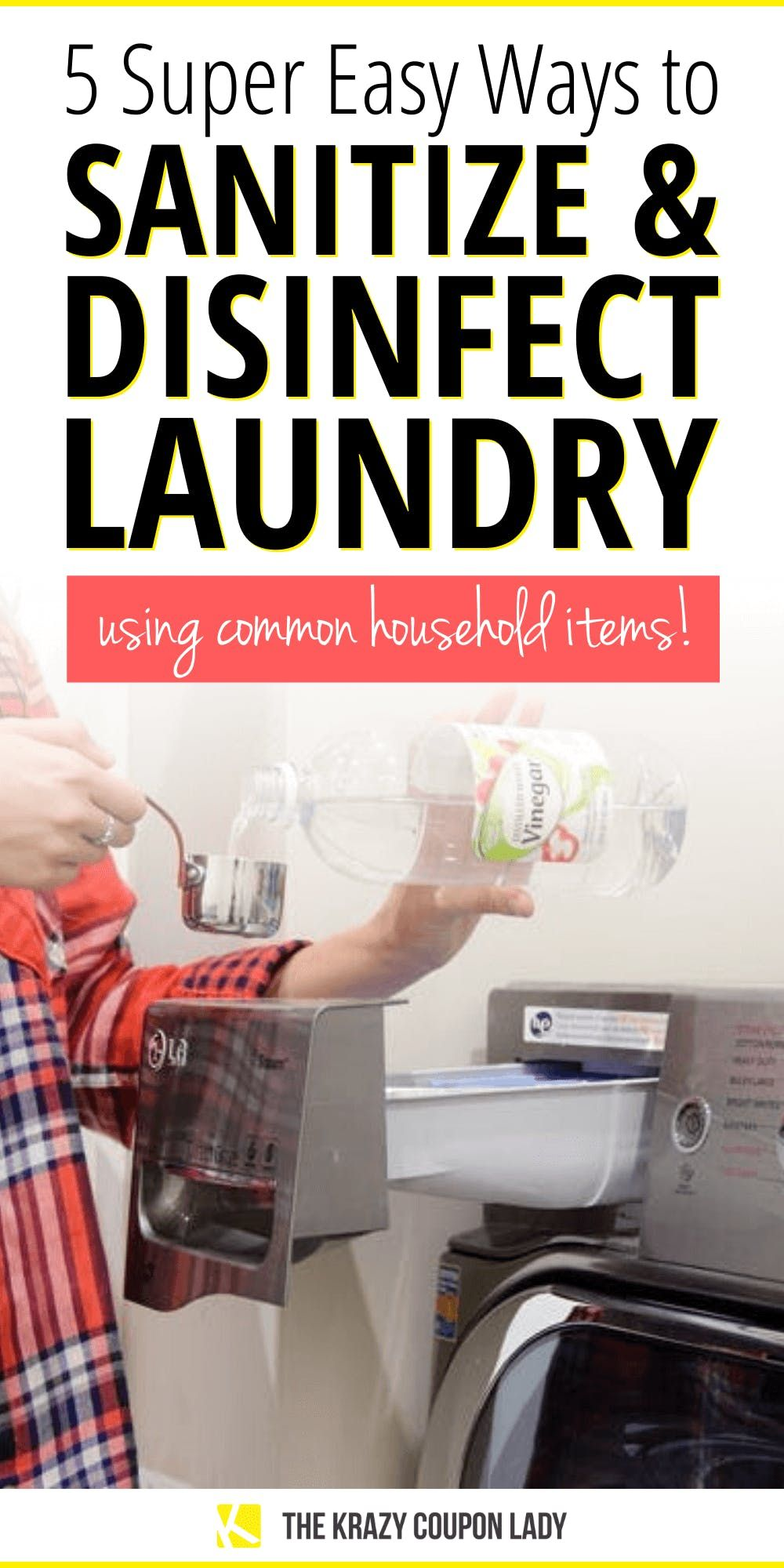 How To Sanitize Disinfect Laundry With Common Household Items In