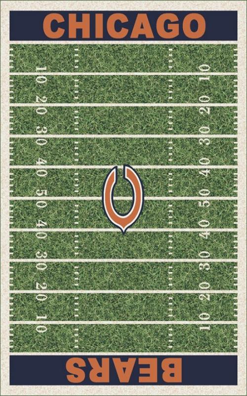 9817beb098f FANMATS Chicago Bears 3 ft. x 6 ft. Football Field Rug Runner Rug ...