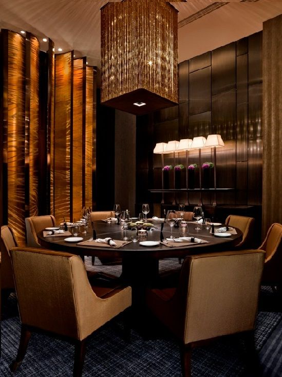 Cafe Gray Deluxe private dining room in Swire Hotel