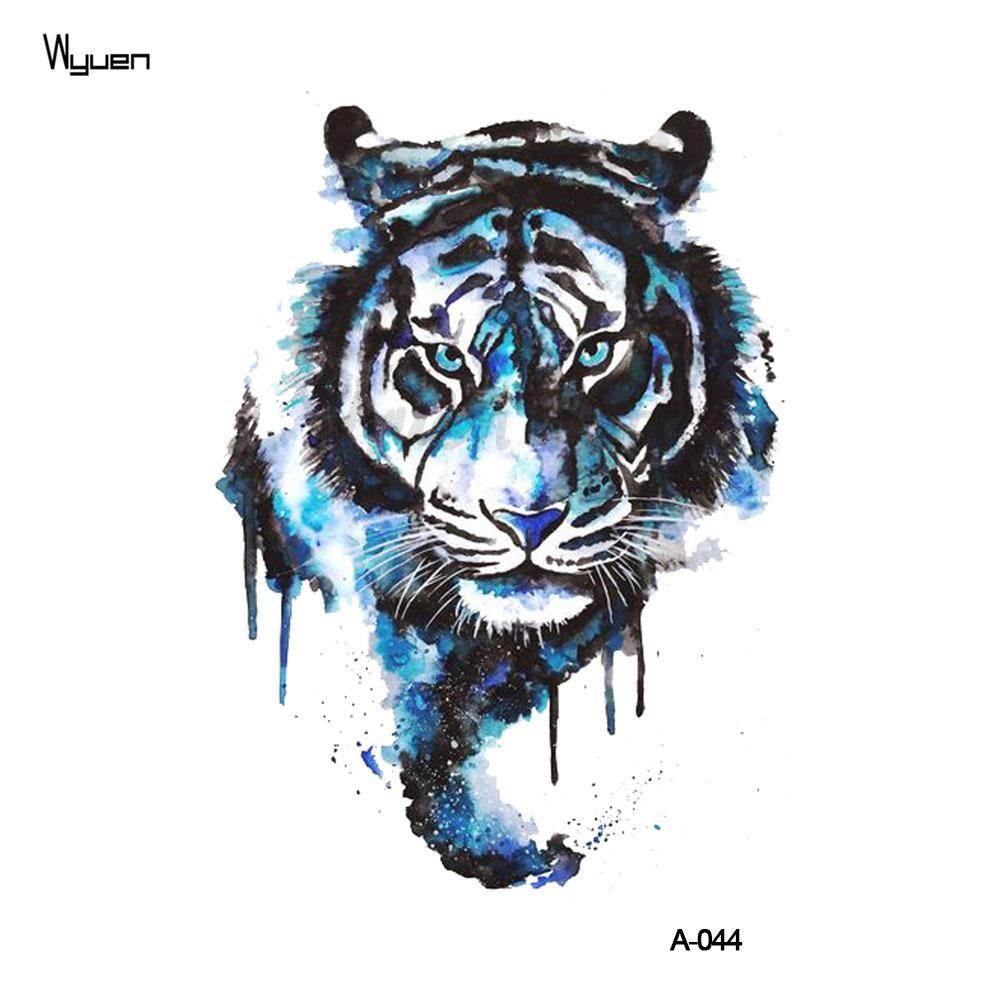 wyuen tiger temporary watercolor