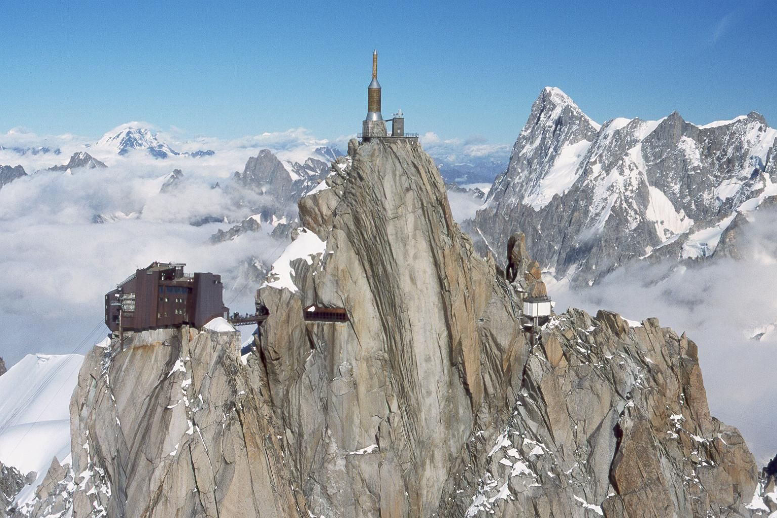 Aiguille Du Midi Superb Cable Car Trip In The French Alps Chamonix Scary Bridges French Alps
