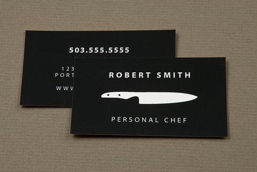 personal chef service business card business cards pinterest