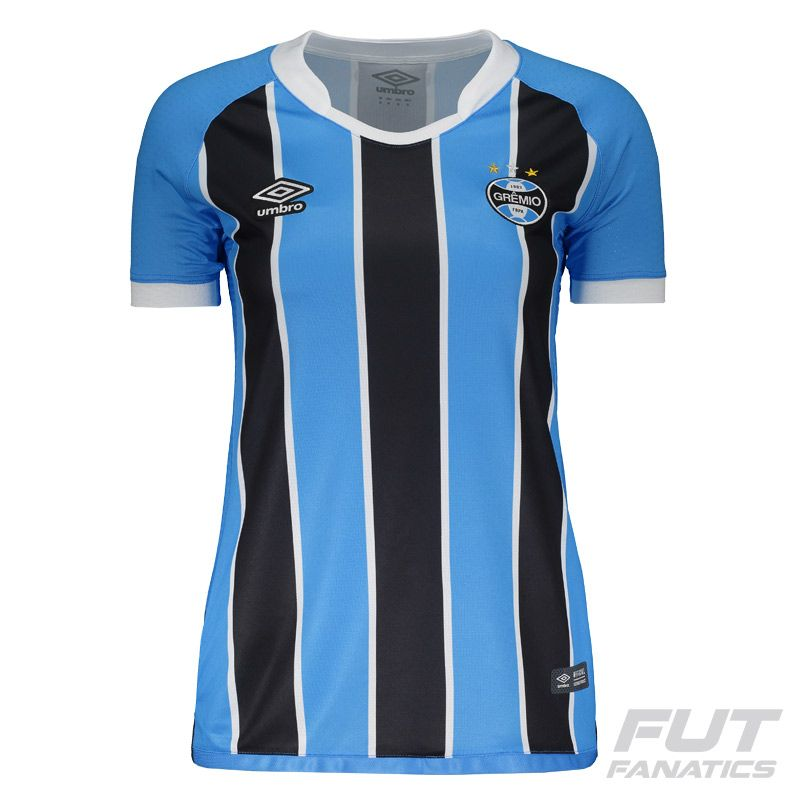 cf0ef202d4 Camisa Umbro Grêmio I 2017 Feminina Somente na FutFanatics você compra  agora Camisa Umbro Grêmio I