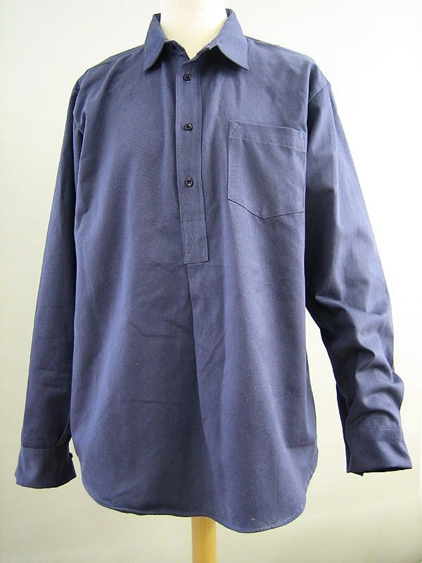 86a09a36 I wore this blue engineer's shirt from Darcy Clothing throughout my summer  camping tour along with a pair of braces.