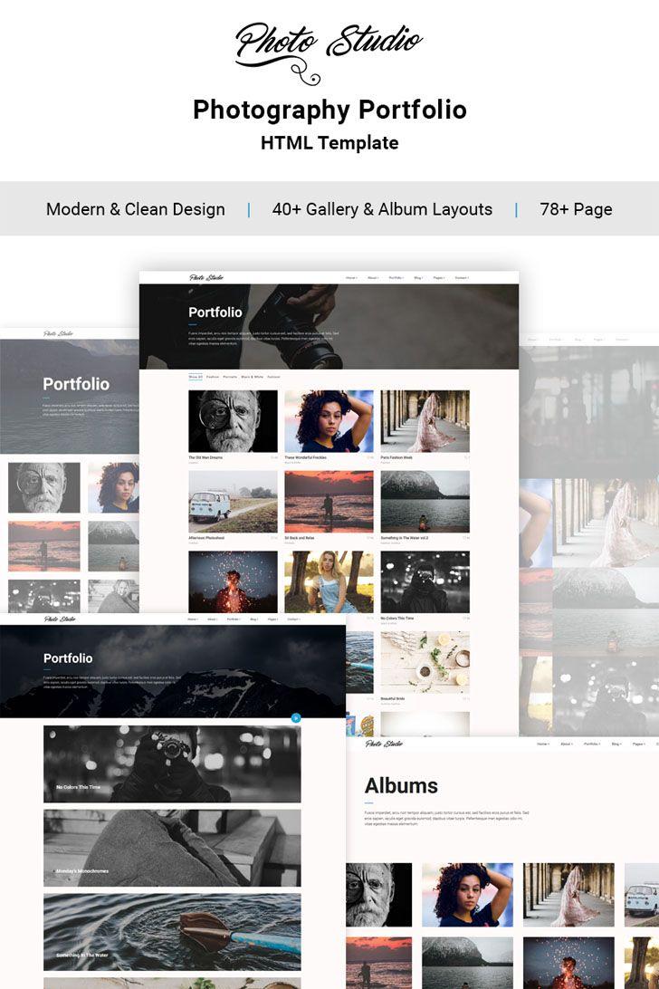 Photo #Portfolio #Creative #Website #Template.Photo Studio is a ...