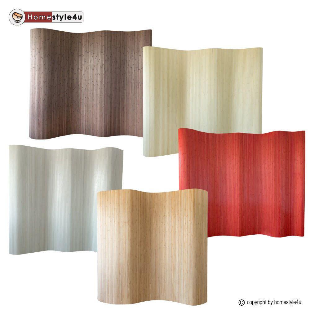 Paravent Raumteiler Trennwand Bambus Sichtschutz spanische Wand 200 cm hoch