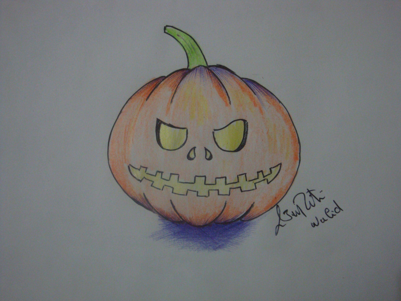 comment dessiner une citrouille d'Halloween dessin