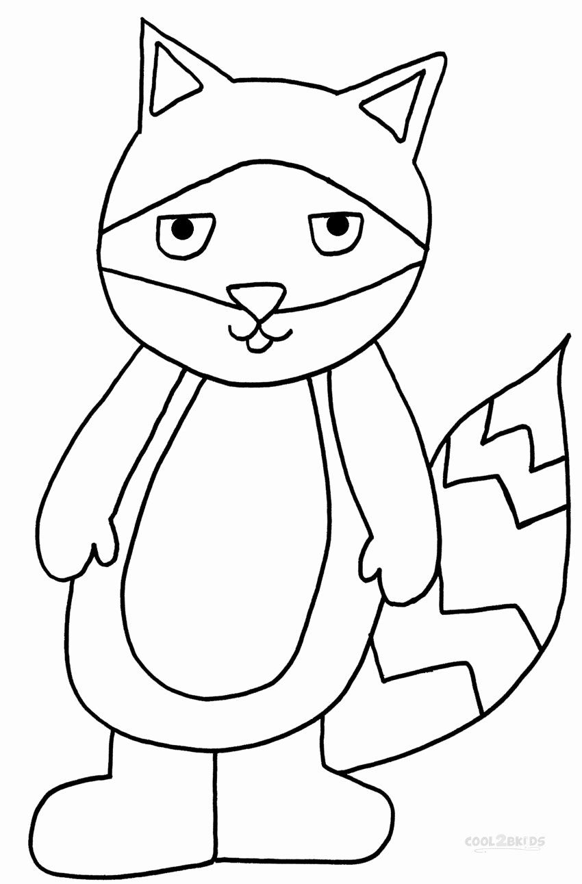 Coloring Book For Toddler Lovely Printable Raccoon Coloring Pages For Kids In 2020 Cool Coloring Pages Toddler Coloring Book Free Kids Coloring Pages