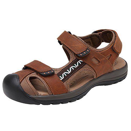 b93331ba1bf love those iLoveSIA Mens Leather Hiking Sandals