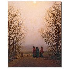 """""""Easter Morning, 1833"""" by Caspar David Friedrich Painting Print on Wrapped Canvas"""