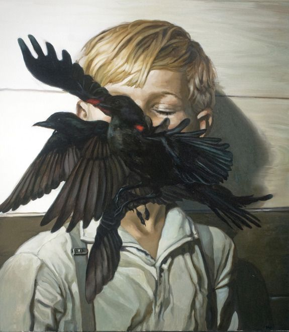 by Meghan Howland. the birds flying right in the face.