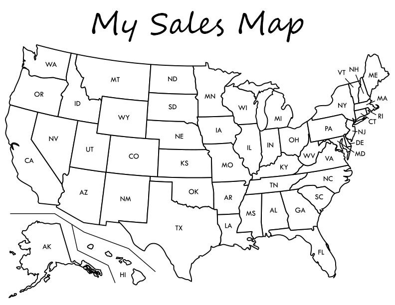 Keep Track Of Your Business Sales With This Super Cute Sales Map