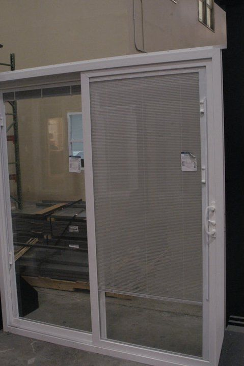 Our Vinyl Sliding Patio Door W Blinds Between The Glass