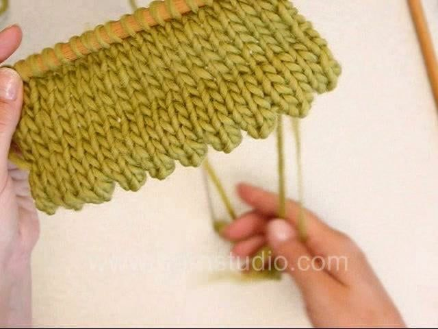How to knit a hem with picots along the edge | Biye | Pinterest ...