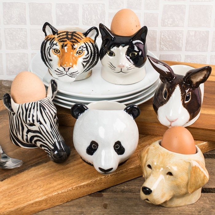 Animal Face Egg Cups (Set Of Two) | GettingPersonal.co.uk | Egg Cups ...
