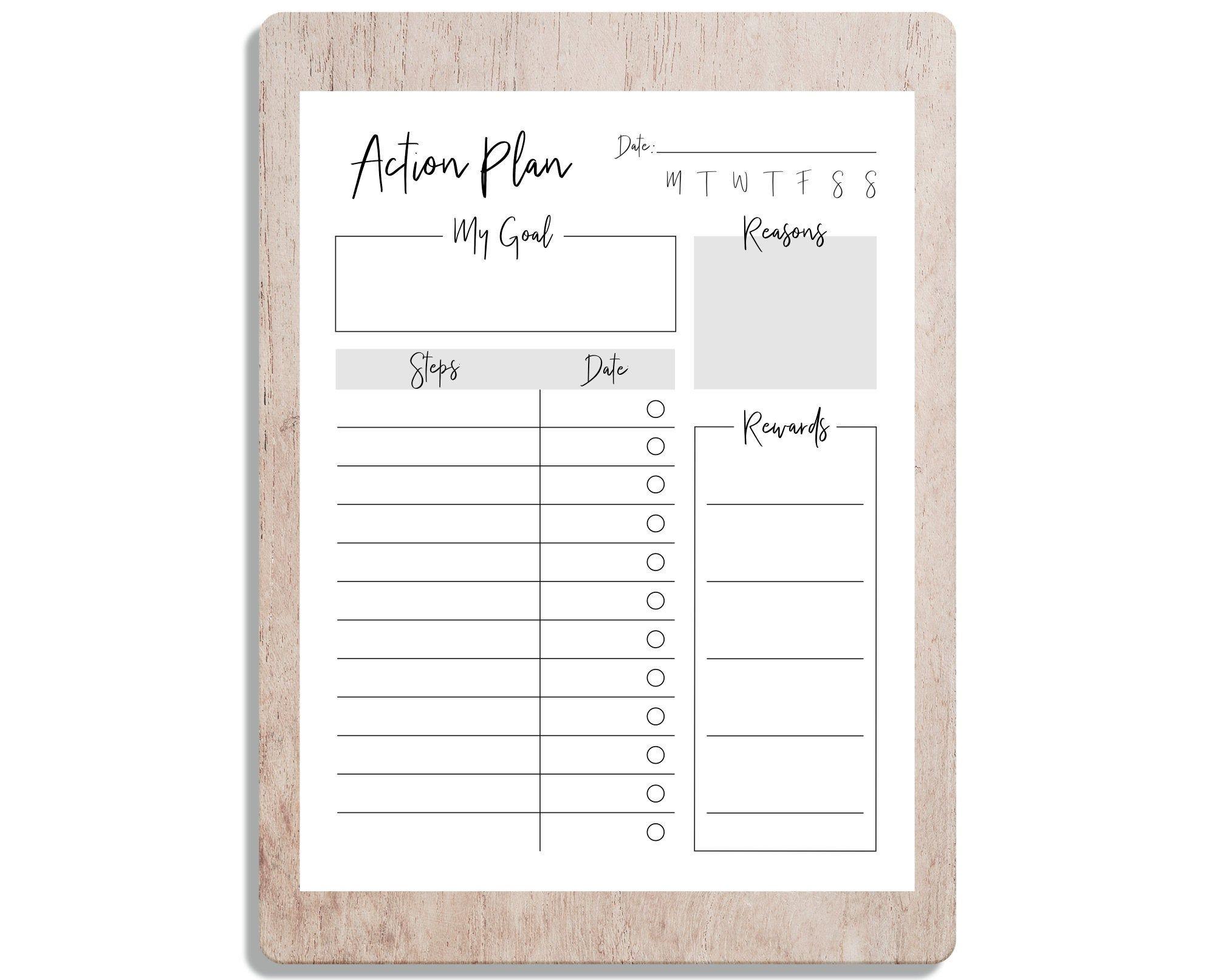 Printable Goal Action Plan Goal PDF, 2020 Goals, Goals