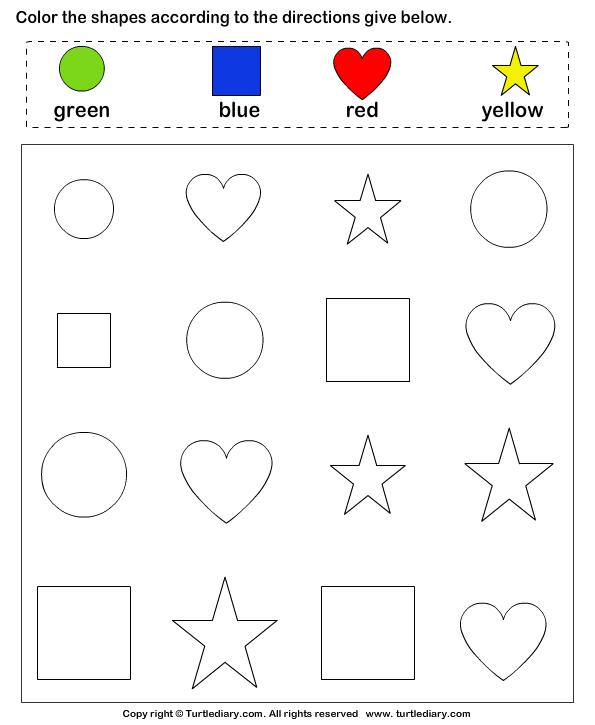 Number Names Worksheets » Free Printable Shapes For Preschoolers ...