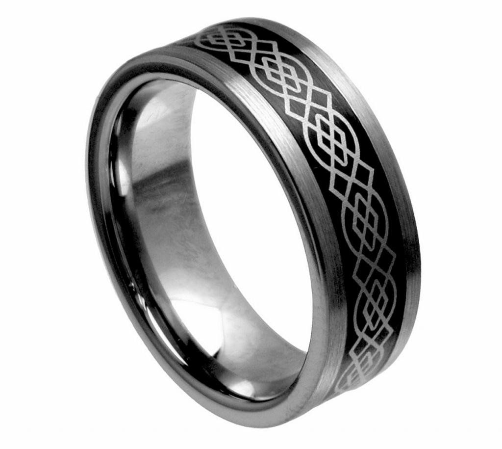 Bridal & Wedding Party Jewelry Engagement & Wedding Nice Stainless Steel Black Ip-plated Hammered 8 Mm Wedding Band Factory Direct Selling Price