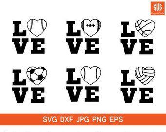 Download Image result for baseball love heart svg   Silhouette ...