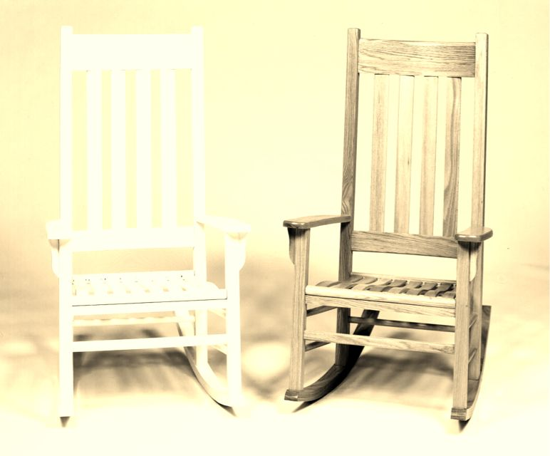 Incredible A White And Original Oak Wood Rocker Perfect For A Husband Caraccident5 Cool Chair Designs And Ideas Caraccident5Info